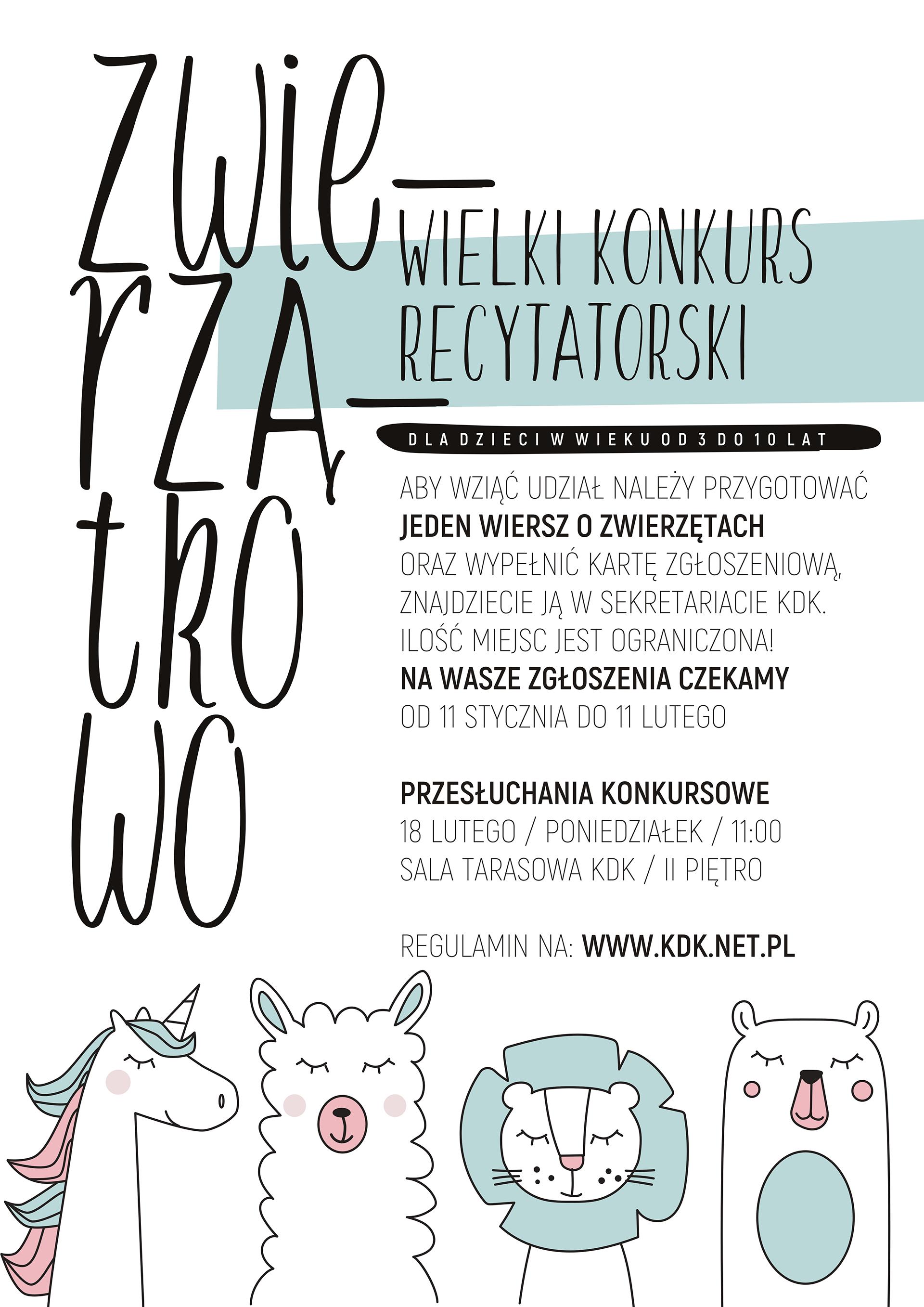 Kdk Zwierzątkowo Konkurs Recytatorski Kutnowski Dom Kultury