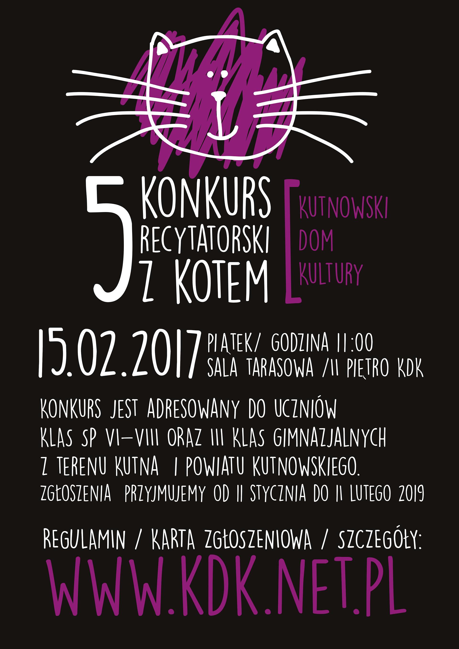 5 Konkurs Recytatorski Z Kotem Kutnowski Dom Kultury