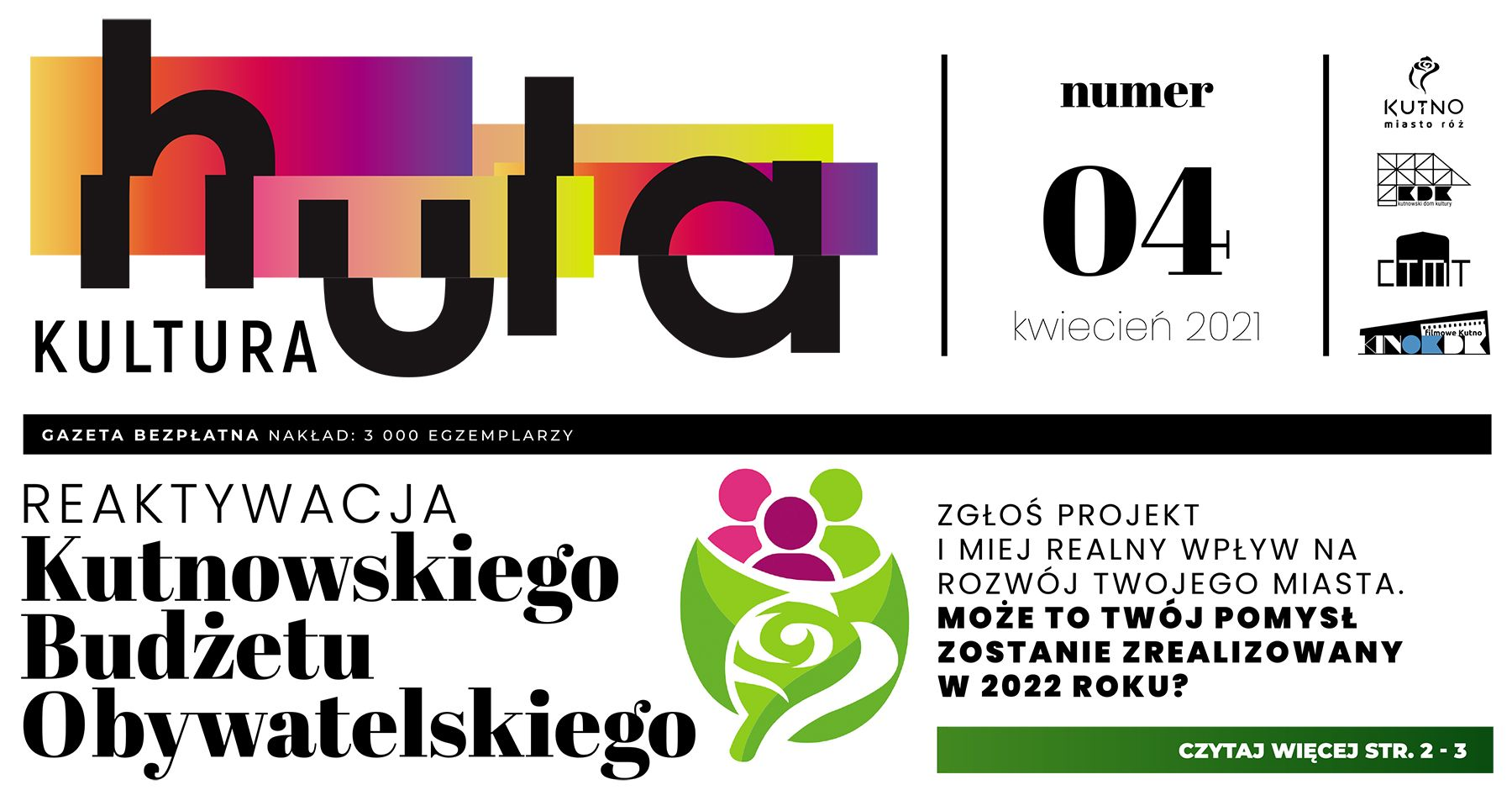 Strona tytułowa gazety Hula Kultura